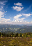 Alpes autrichiens avec des nuages Images libres de droits