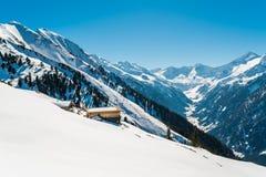 Alpes autrichiens pendant l'hiver Images libres de droits