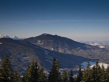 Alpes bávaros no inverno foto de stock