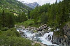 Alpes blu profondo Immagine Stock Libera da Diritti
