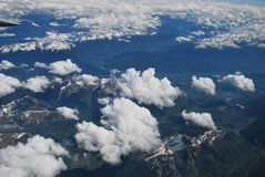 Alpes and clouds Royalty Free Stock Image