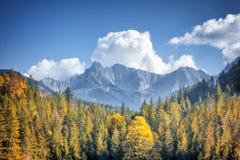 Alpes d'automne Photo libre de droits