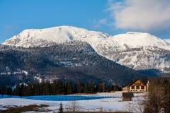 Alpes d'hiver Images libres de droits