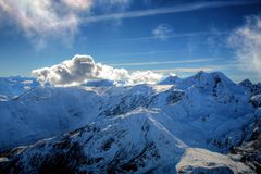 Alpes d'hiver image stock