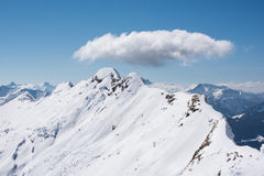 Alpes d'hiver photographie stock libre de droits