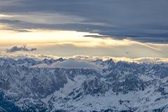 Alpes dans la vue autrichienne et aérienne Images stock