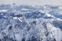Alpes dans la vue autrichienne et aérienne Image stock