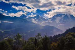 Alpes de Bernese Photos libres de droits