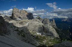 Alpes de dolomite Photos stock