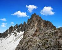 Alpes de dolomite, Italie Images libres de droits