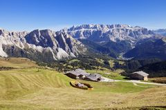 Alpes de dolomite, paysage Photo stock