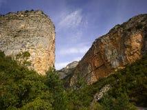 Alpes-De-Haute-Provence; Vallee du Bes della La Fotografia Stock Libera da Diritti