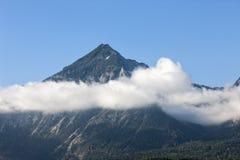 Alpes de l'Allemagne en belle nature de brouillard Photo libre de droits