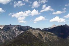 Alpes de montagne photos stock