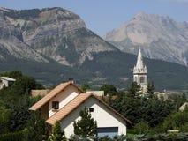 Alpes del haute de las montan@as de Francia Imagen de archivo libre de regalías
