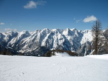 Alpes do inverno imagem de stock royalty free