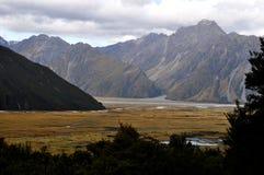 Alpes du sud, Nouvelle-Zélande Photo libre de droits