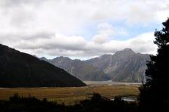 Alpes du sud, Nouvelle-Zélande Images libres de droits