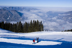 Alpes en hiver Photos libres de droits