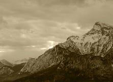 Alpes en hiver Photographie stock libre de droits