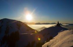 Alpes ensoleillés Photographie stock