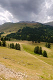 Alpes entre l'Italie et les Frances Images libres de droits
