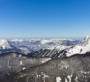 Alpes européennes en hiver Images libres de droits