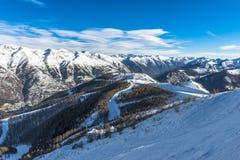 Alpes français dans Auron Image libre de droits