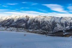 Alpes français dans Auron, au sud des Frances Photos stock