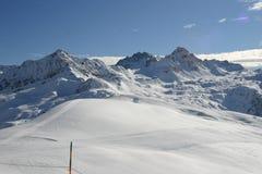 Alpes franceses no inverno Imagens de Stock Royalty Free