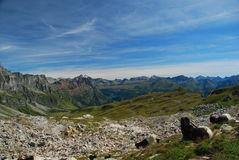 Alpes italianos, paisagem da alta altitude Foto de Stock
