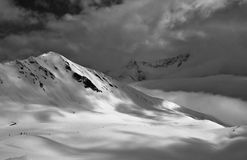 Montagnes nuageuses Photo stock