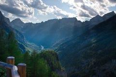Alpes julianos em Slovenia fotografia de stock