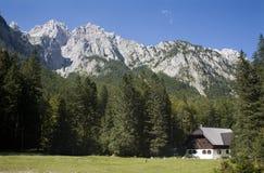 Alpes julianos - paek de Skrlatica imagens de stock royalty free
