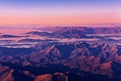 Alpes méridionaux, Nouvelle Zélande Photos libres de droits