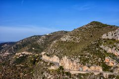 Alpes-Maritimes Coastal Mountains Landscape in France Stock Photography