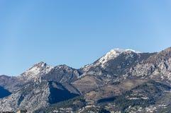 Alpes Maritimes da Menton Fotografie Stock Libere da Diritti