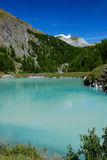 Alpes mountain lake Royalty Free Stock Images