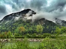 Alpes mountain Marquartstein in Bavaria Germany Royalty Free Stock Photos