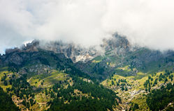 Alpes near Sestriere in Italy Royalty Free Stock Photo