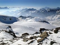 Alpes no inverno Foto de Stock