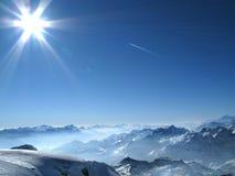 Alpes no inverno Foto de Stock Royalty Free