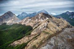 Alpes nuageuses d'Apuan image libre de droits