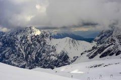 Alpes orageux Images libres de droits