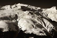 Alpes preto e branco Fotos de Stock Royalty Free