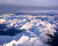 Alpes Snowpeaks Images stock