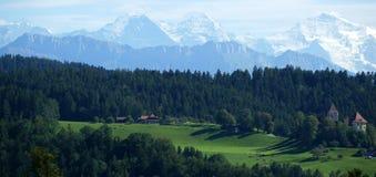 Alpes suíços Fotografia de Stock