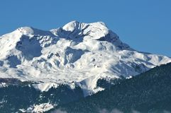 Alpes suíços acima de Sion Fotos de Stock