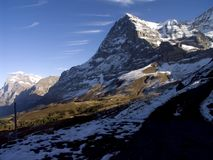 Alpes suíços, Eiger Nordwand (parede norte) foto de stock royalty free