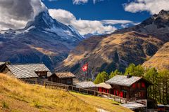 Alpes suisses images stock